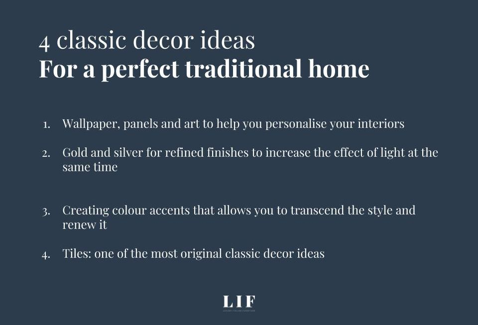 4 classic decor ideas