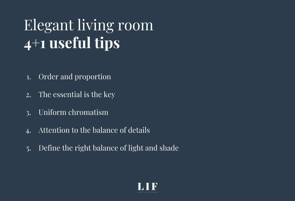 tips to create your elegant living room map