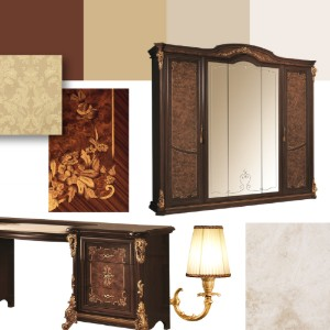 Classic bedroom mood board: Sinfonia Collection 6