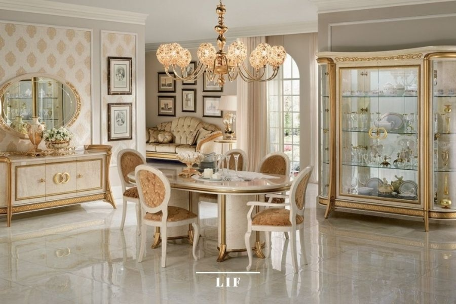 Assessing the style of the collection chosen for the living room