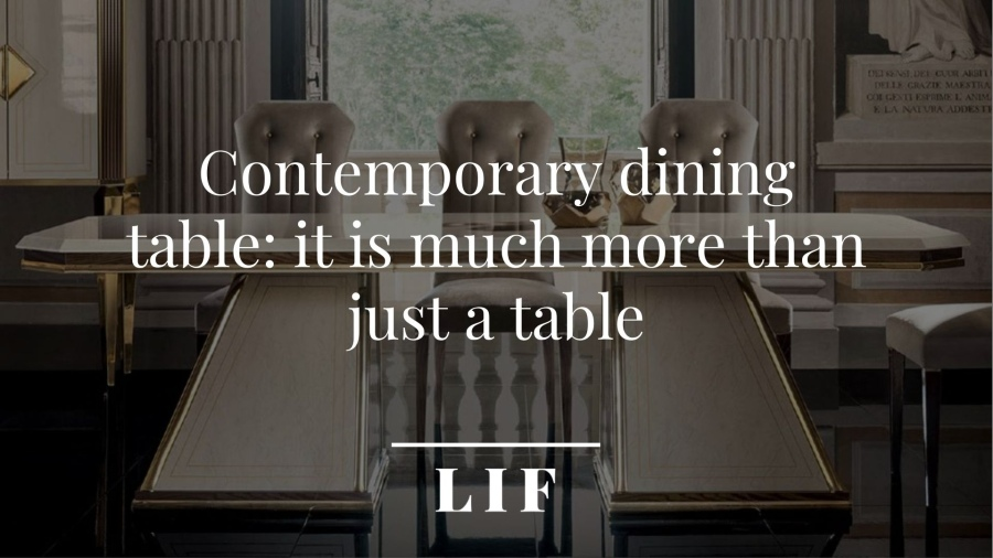 coover: Contemporary dining table: it is much more than just a table