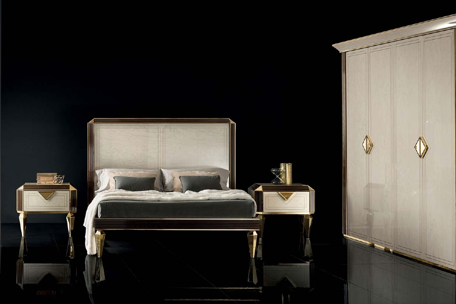 Fabrics play a very important role in contemporary bedrooms