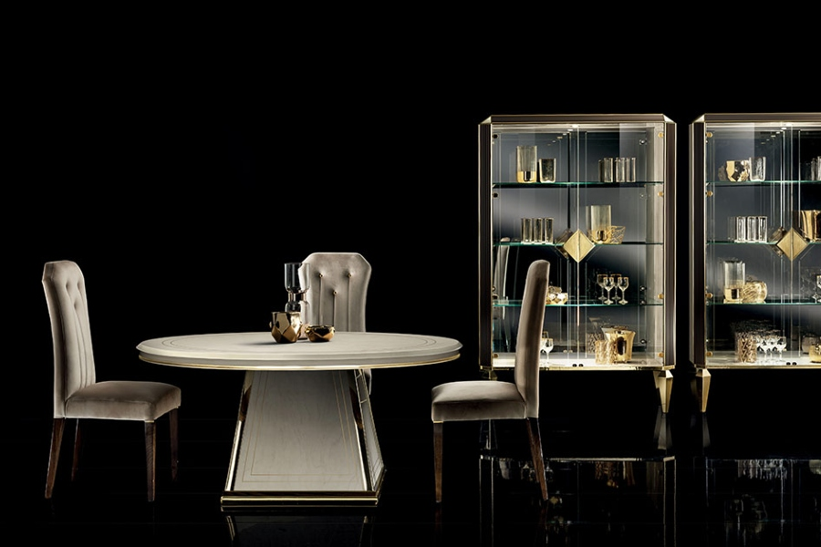 Contemporary dining chairs: The Diamante collection chairs