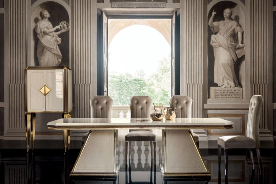 Contemporary interior design: dining room