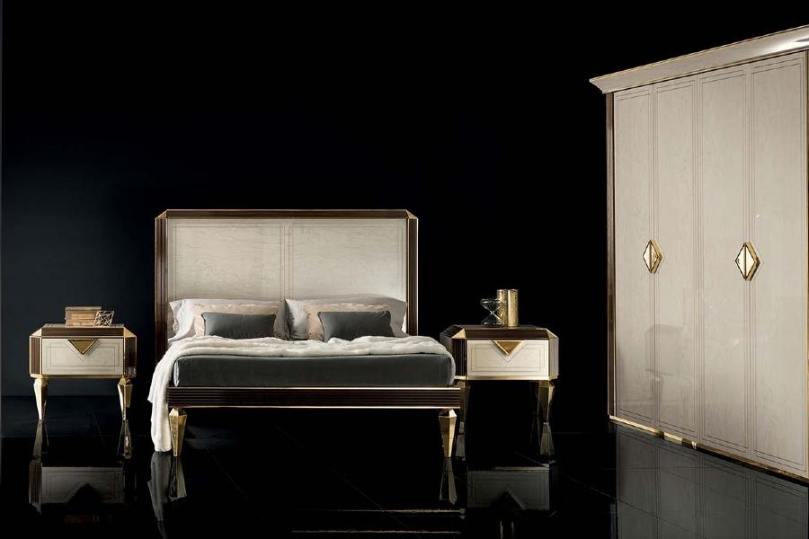 Contemporary interior design: diamante bed