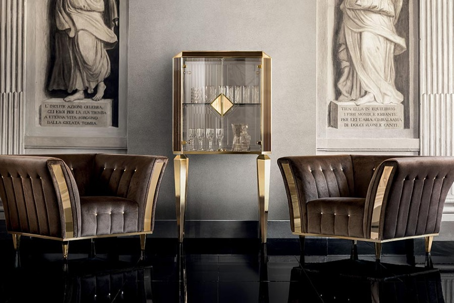 Comfort and elegance: Diamante sofas and armchairs