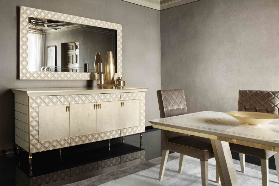 The precious details of the Sipario and Diamante mirrors