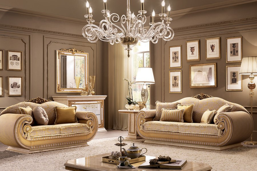 Italian classic furniture company leonardo living room