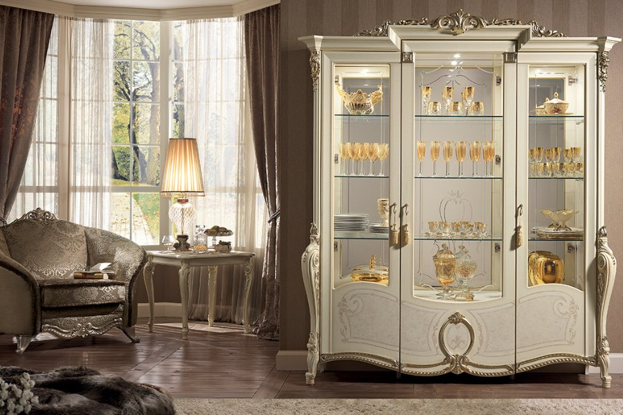 Italian classic furniture company tiziano living room cabinet