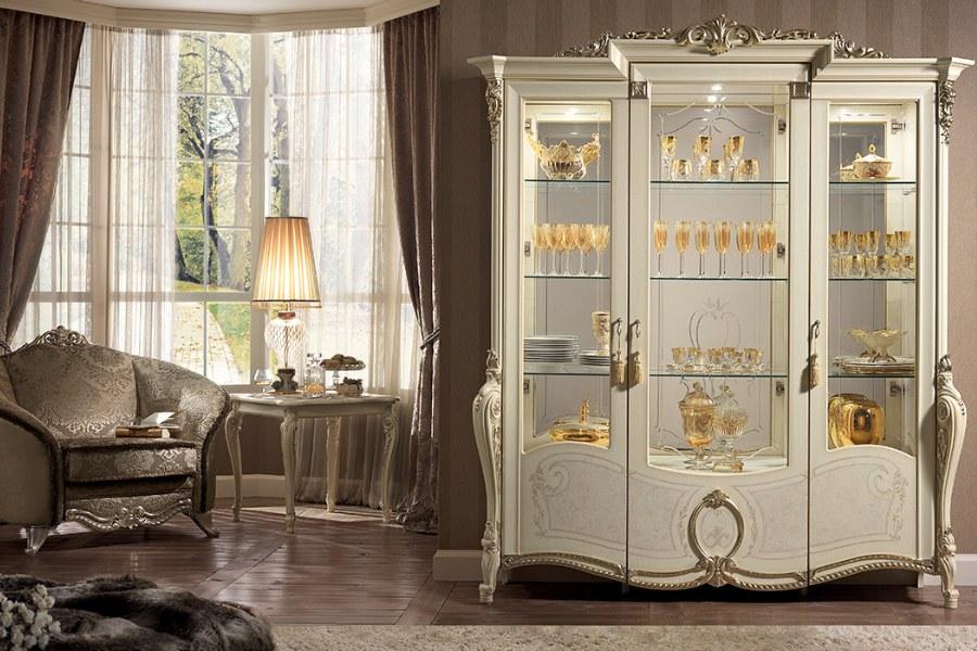 Italian classic furniture company tiziano living room cabinet
