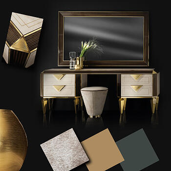 Contemporary Bedroom Moodboard Diamante Collection
