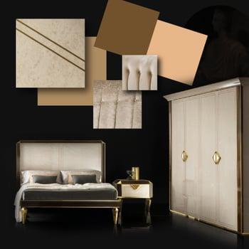 Contemporary Bedroom Moodboard Diamante Collection