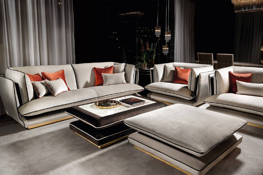 Living room interior design: allure collection