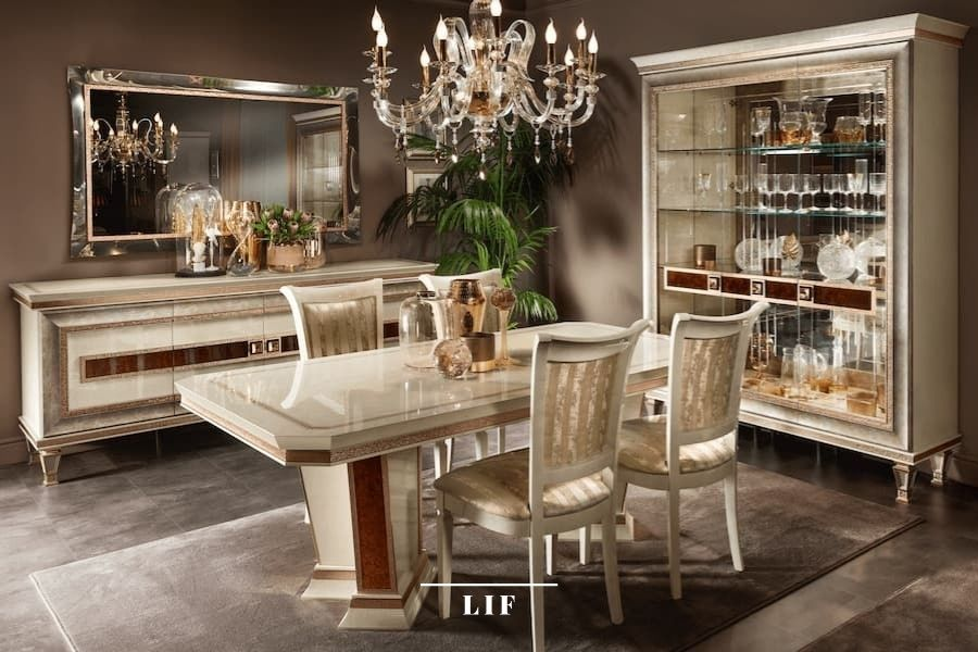 Neoclassic dining table: furnishing accessories