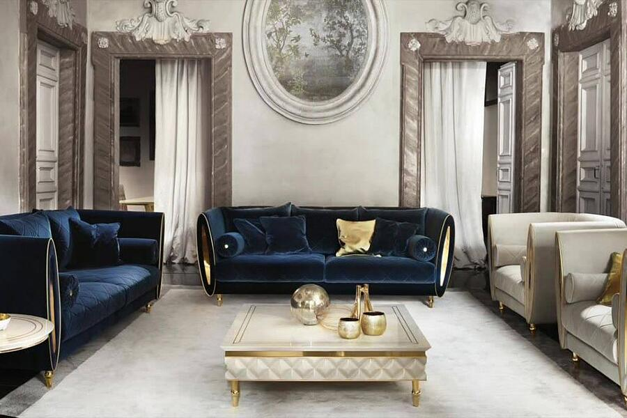 How to combine contemporary and glamorous living room furniture styles with Adora 5
