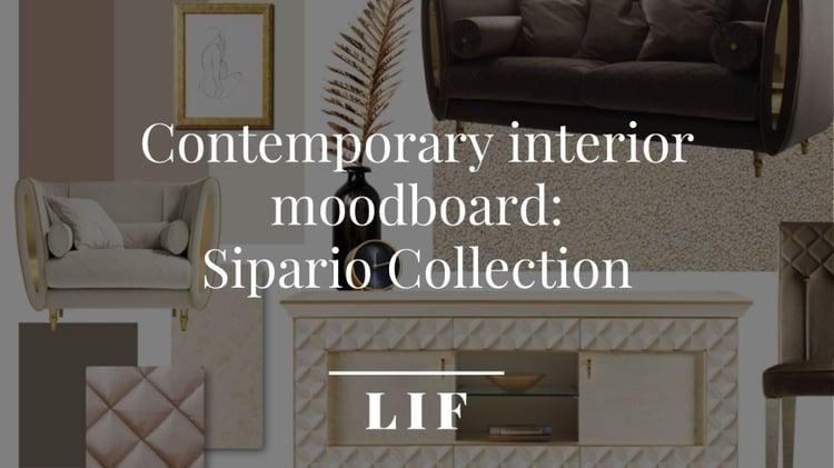 Classic interior moodboard-sipario collection