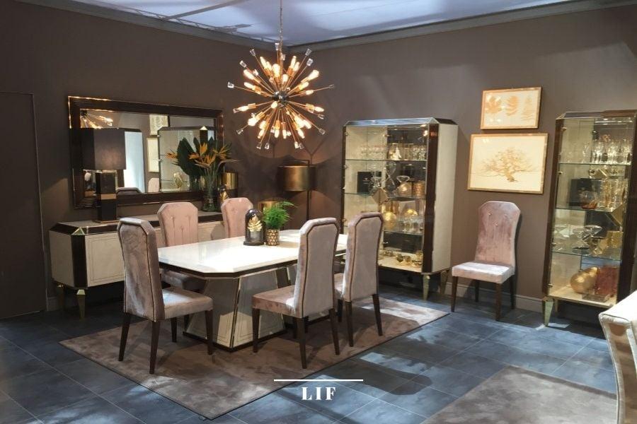 Warm contemporary living room: lighting