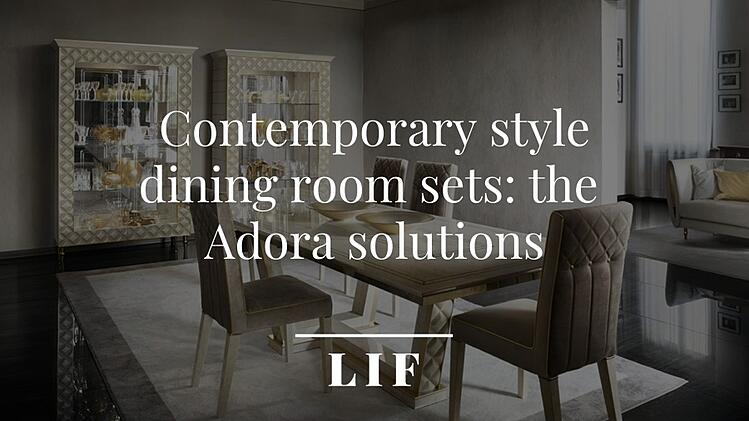 Contemporary style dining room sets: the Adora solutions 0
