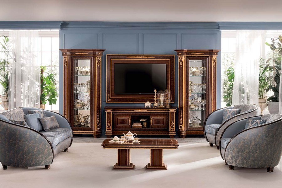 Furnish your classic Italian style living room with an elegant Arredoclassic collection 1