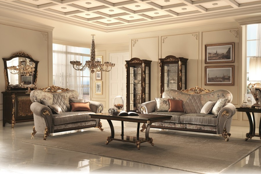 Furnish your classic Italian style living room with an elegant Arredoclassic collection 3