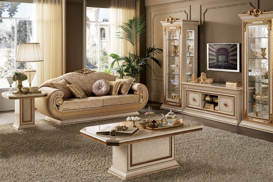 Furnish your classic Italian style living room with an elegant Arredoclassic collection 5
