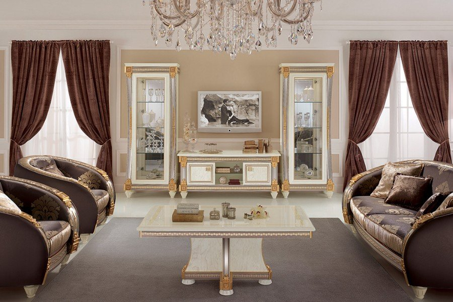 Furnish your classic Italian style living room with an elegant Arredoclassic collection 8