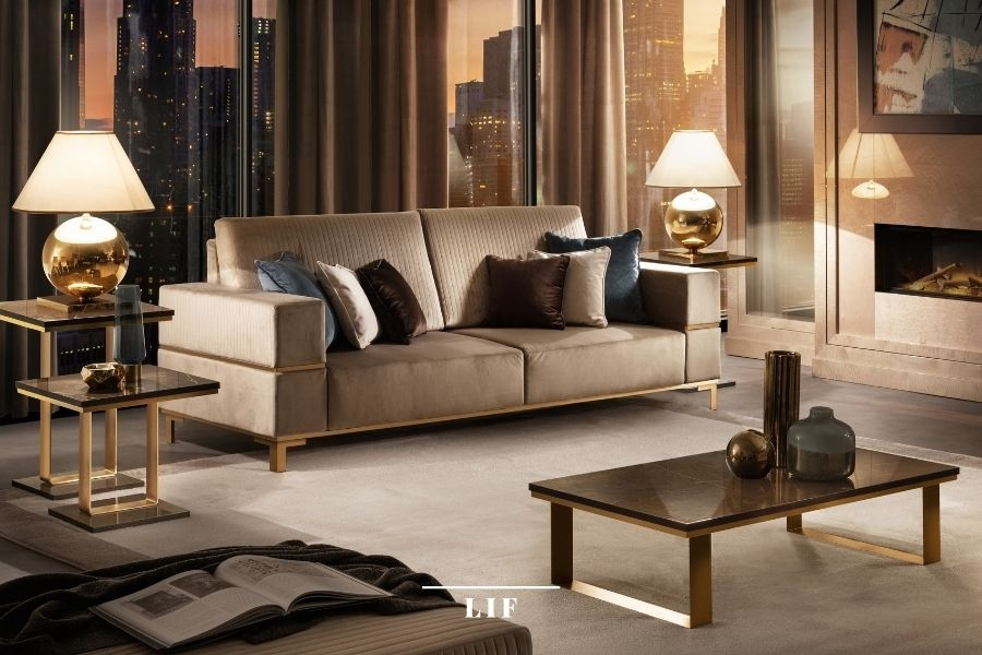 contemporary living room sets: composition of comfort and style