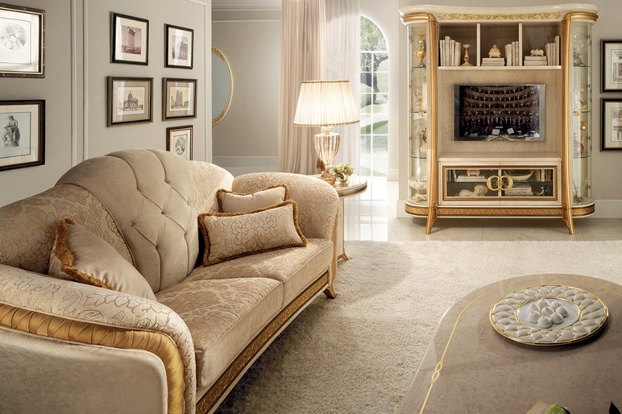 The elegance of a neoclassical style sofa: The Arredoclassic collections 8