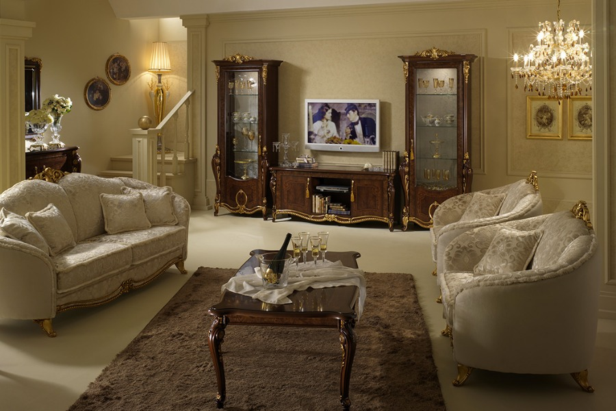 Lightness and elegance of a Renaissance style living room: the Donatello Collection 3