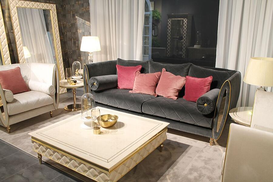 How to combine contemporary and glamorous living room furniture styles with Adora 3