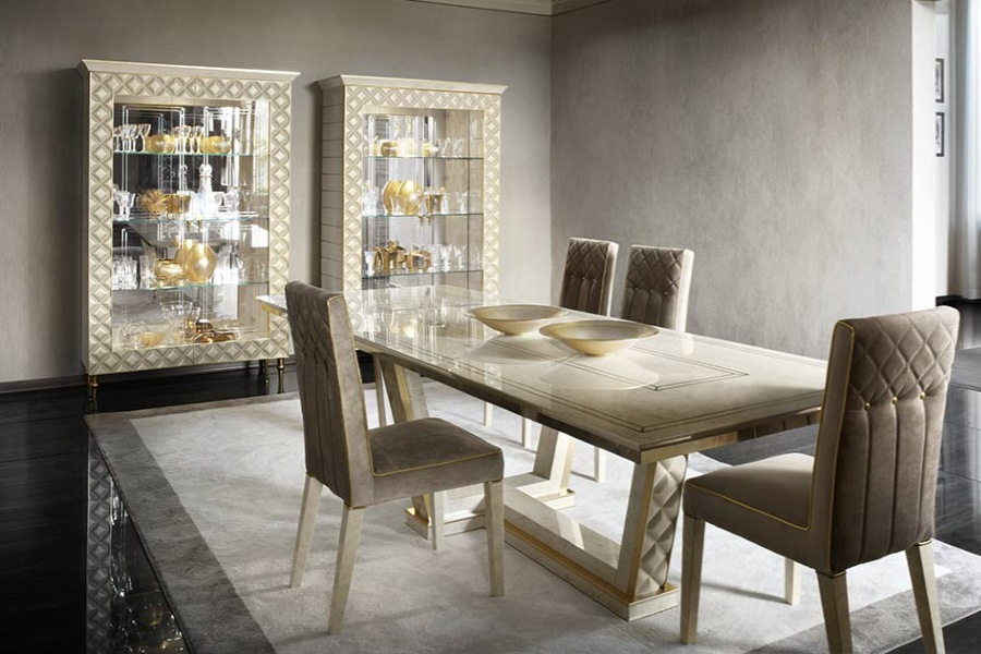 Contemporary style dining room sets: the Adora solutions